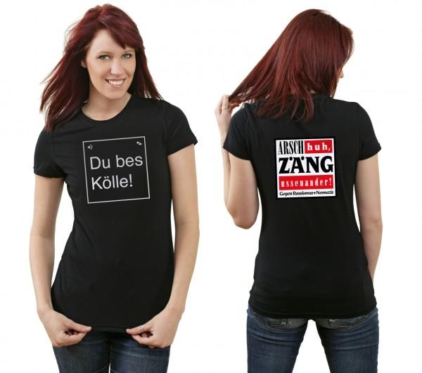 T-Shirt Arsch huh - Du bes Kölle! (Fair Ware, Klima neutral)