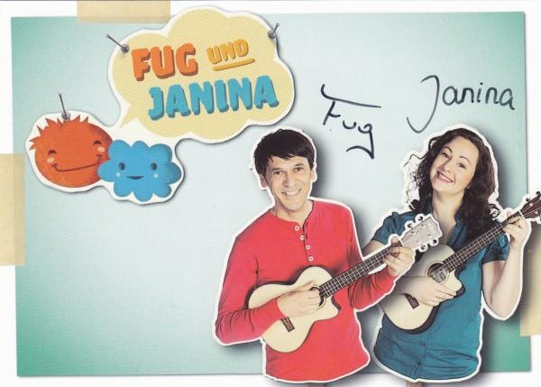 Fug und Janina - Autogrammkarte mit Original-Unterschriften